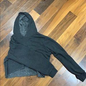 dark grey/black cropped hoodie